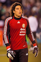 Guillermo 'Memo' Ochoa (1) goalkeeper of Mexico. The national teams of Mexico and Venezuela played to a 1-1 draw in an International friendly match at Qualcomm stadium in San Diego, California on  March 29, 2011...