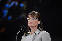 ST PAUL, MN - September 3, 2008: Alaska Governor and Republican Vice President nominee Sarah Palin speaking at the 2008 Republican National Convention.