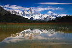 Cerros Fitz Roy and Laguna Capri, Los Glaciares National Park, Patagonia, Argentina