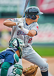 9 July 2015: Mahoning Valley Scrappers infielder Mark Mathias in action against the Vermont Lake Monsters at Centennial Field in Burlington, Vermont. The Scrappers defeated the Lake Monsters 8-4 in 12 innings of NY Penn League play. Mandatory Credit: Ed Wolfstein Photo *** RAW Image File Available ****