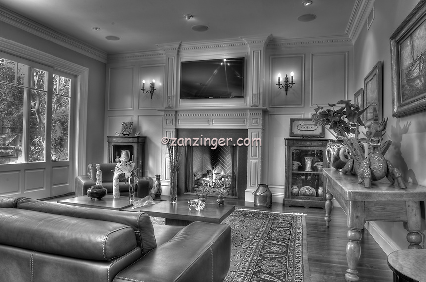 Great Room B/W, Residential Interior, Residential, House, Home .jpg