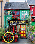 A colorful house serves as a hostel in Killarney, County Kerry, Ireland. Please note that an unauthorized copy of this photo is being offered for sale on a website in Ireland at http://www.macsfieldimages.com/landscape--heritage.html. Please do not buy it there.