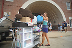 Meredith Oliver begins moving into a dorm at the University of Mississippi in Oxford, Miss. on Wednesday, August 17, 2011. Classes for the fall semester begin Monday, August 22, 2011.