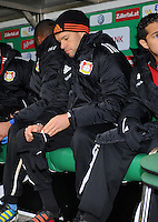 FUSSBALL   1. BUNDESLIGA   SAISON 2011/2012   19. SPIELTAG Werder Bremen - Bayer 04 Leverkusen                    28.01.2012 Michael Ballack (Leverkusen) sitzt zu Beginn des Spiels auf der Ersatzbank
