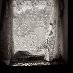#blackandwhite #monochrome #wisconsin #midwestmemoir #photograph #window #curtain #lace
