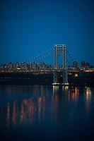 FORT LEE, NJ - APRIL 2: General view of George Washington Bridge along Hudson river between New York and New Jersey on April 2, 2017 in Fort Lee, New Jersey. Photo by VIEWpress/Eduardo MunozAlvarez