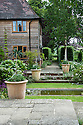 Terrace at Tidebrook Manor, East Sussex, early June.