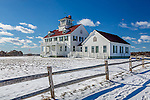 The old lifesaving station at Coast Guard Beach, Cape Cod National Seashore, Eastham, Massachusetts, USA