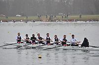 007 MaidstoneInvicta MasD.8+..Marlow Regatta Committee Thames Valley Trial Head. 1900m at Dorney Lake/Eton College Rowing Centre, Dorney, Buckinghamshire. Sunday 29 January 2012. Run over three divisions.