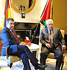 march 24-17 Palestinian President Mahmoud Abbas and the German Foreign Minister Sigmar Gabriel meet