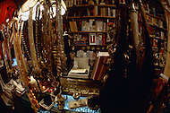 """April 1974, Brooklyn, NY. Witchcraft is the oldest religion. Mystical objects sold in the """"Warlock"""" shop are used during sabbath ceremony."""