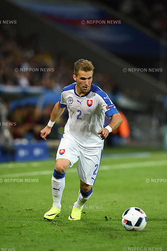 Peter Pekarik (Slovakia) ; <br /> June 15, 2016 - Football : Uefa Euro France 2016, Group B, Russia 1-2 Slovakia at Stade Pierre Mauroy, Lille Metropole, France.; ;(Photo by aicfoto/AFLO)