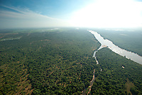 Aerial view of the Mahaweli River.