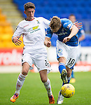 St Johnstone v Inverness Caley Thistle...08.08.15...SPFL..McDiarmid Park, Perth.<br /> David Wotherspoon is fouled by Ryan Christie<br /> Picture by Graeme Hart.<br /> Copyright Perthshire Picture Agency<br /> Tel: 01738 623350  Mobile: 07990 594431