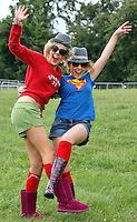 08/07/'10 Chloe Coyne from Mullingar and Eimear Reilly from Edgesworthtown pictured arriving at Punchestown, Co. Kildare this evening for the start of the Oxegen Festival 2010...Picture Colin Keegan, Collins, Dublin