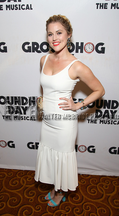 Rebecca Faulkenberry attends the Broadway Opening Night After Party for 'Groundhog Day' at Gotham Hall on April 17, 2017 in New York City.