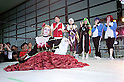 "June 2, 2012, Tokyo, Japan - American woman dresses as a anime character at the cosplay contest.  The Anime and Cosplay exhibition ""Moe Culture Festival 2012"" from June 2nd to 3rd at Otaku Sangyou Plaza Pio.."
