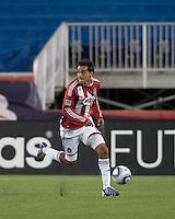 Two goal scorer Chivas USA midfielder Jesus Padilla (10) brings the ball forward. Chivas USA defeated the New England Revolution, 4-0, at Gillette Stadium on May 5, 2010.