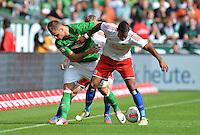 FUSSBALL   1. BUNDESLIGA   SAISON 2012/2013   2. Spieltag SV Werder Bremen - Hamburger SV                     01.09.2012         Marko Arnautovic (li, SV Werder Bremen) gegen Dennis Aogo (re, Hamburger SV)