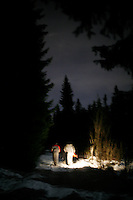 A flashlight is needed to find the old Schorderbakken ski jump arena, tucked away as it is on a slope in the forest.