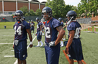 Offense players Raynard Horne(44) and running back Keith Payne(32)during open spring practice for the Virginia Cavaliers football team August 7, 2009 at the University of Virginia in Charlottesville, VA. Photo/Andrew Shurtleff