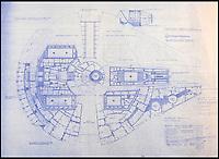 Original blueprints to Star Wars and Star Trek sets.