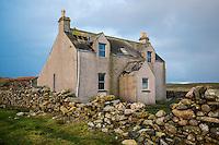 Derelict abandoned house, Berneray, Outer Hebrides, Scotland