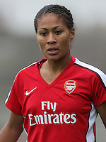 Rachel Yankey of Arsenal - Arsenal Ladies vs Sparta Prague - UEFA Women's Champions League at Boreham Wood FC - 11/11/09 - MANDATORY CREDIT: Gavin Ellis/TGSPHOTO - Self billing applies where appropriate - Tel: 0845 094 6026