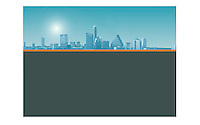 Austin skyline background template for ad or poster copy