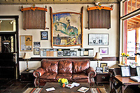 Built in the 1920s by folk artist Pop Schaffer, the Schaffer Hotel and his homesite, Rancho Bonito, are both historic landmarks in the  town of Mountainair, New Mexico.