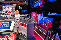Dana Bash is CNN's Chief Political Correspondent. She is seen here in the booth for CNN's coverage of the 2016 Republican National Convention in the Quicken Loans Arena in Cleveland, Ohio, on Thurs., July 21, 2016. The network's coverage of the the election is called America's Choice 2016.