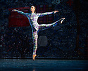 London, UK. 19.05.2014. Rambert presents Lucinda Childs' FOUR ELEMENTS, as part of their London Spring Season 2014, at Sadler's Wells. Picture shows: Mbulelo Ndabeni. Photograph © Jane Hobson.