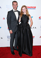 LOS ANGELES, CA, USA - OCTOBER 11: James Van Der Beek, Kimberly Brook arrive at the Children's Hospital Los Angeles' Gala Noche De Ninos 2014 held at the L.A. Live Event Deck on October 11, 2014 in Los Angeles, California, United States. (Photo by Xavier Collin/Celebrity Monitor)