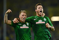 FUSSBALL   1. BUNDESLIGA   SAISON 2012/2013   1. SPIELTAG Borussia Dortmund - SV Werder Bremen                  24.08.2012      Aaron Hunt  und Marko Arnautovic (v.l., beide SV Werder Bremen) jubeln nach dem 1:1