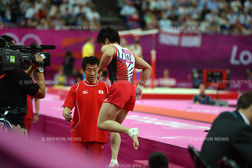 Koji Yamamuro (JPN), .JULY 31, 2012 - Artistic Gymnastics : Men's Team at North Greenwich Arena during the London 2012 Olympic Games in London, UK. (Photo by Jun Tsukida/AFLO SPORT).