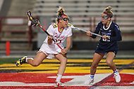 College Park, MD - February 25, 2017: Maryland Terrapins Caroline Wannen (17) passes the ball during game between North Carolina and Maryland at  Capital One Field at Maryland Stadium in College Park, MD.  (Photo by Elliott Brown/Media Images International)