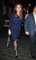 Sarah Ferguson, Duchess of York at the Prudential sponsored 60 Minutes with Sarah Ferguson disccussion and Q&amp;A, China Exchange, Gerrard Street, London, England, UK, on Thursday 22 September 2016.<br /> CAP/CAN<br /> &copy;CAN/Capital Pictures