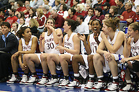 20 March 2006: Rosalyn Gold-Onwude, Brooke Smith, Jillian Harmon, Candice Wiggins, Kristen Newlin during Stanford's 88-70 win over Florida State in the second round of the NCAA Women's Basketball championships at the Pepsi Center in Denver, CO.