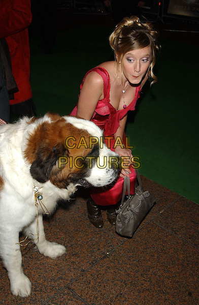 "LUDIVINE SAGNIER.""Peter Pan"" world film premiere.Empire cinema, Leicester Square, London.9 December 2003.dog, animal, funny.sales@capitalpictures.com.www.capitalpictures.com.©Capital Pictures"
