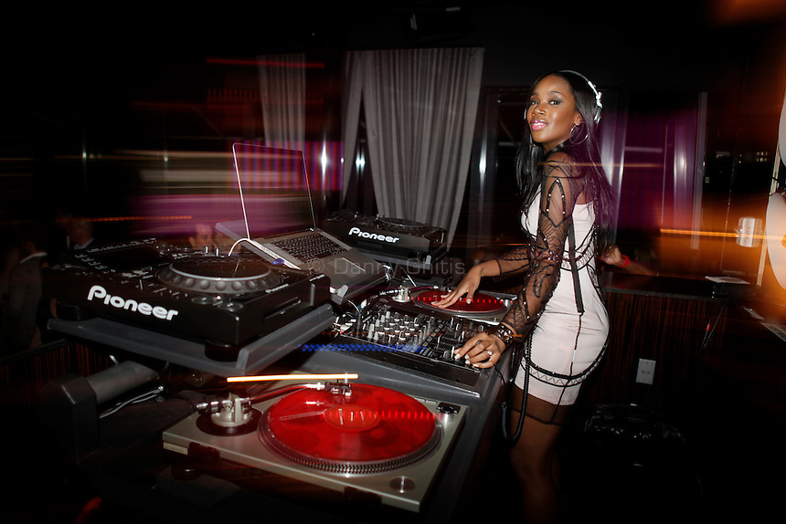 DJ Kiss spins beats at the Us Weekly party at the Dream Downtown hotel's rooftop bar PH-D for its 2011 most stylish New Yorkers on Wednesday, Sept 14, 2011. ..Danny Ghitis for The New York Times