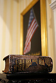 The family bible used by United States Vice President Joe Biden for the oath of office at the U.S. Naval Observatory in Washington January 20, 2013.   .Credit: Kevin Lamarque / Pool via CNP