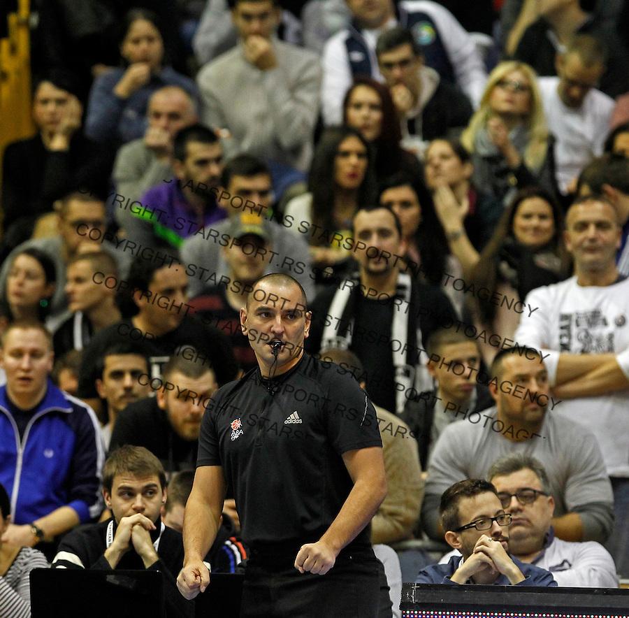 Ilija Belosevic ABA liga, Partizan - Mega Leks, Beograd, Srbija, 7.12.2014 (credit image & photo: Pedja Milosavljevic / STARSPORT). © 2014 Pedja Milosavljevic / +318 64 1260 959 / thepedja@gmail.com