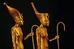 Gilded wood figures of Pharaoh,Tutankhamun Book, Page 8-9