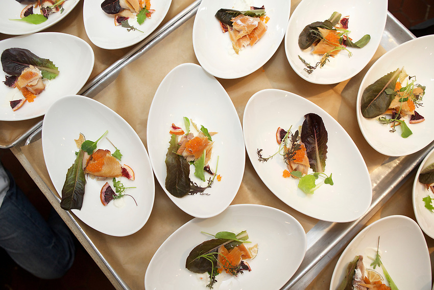 NEW YORK, NY - April 28, 2017: Chef Richard Arbaugh of West Virginia's South Hills Market &amp; Cafe presents a Modern Appalachian Spring dinner at the James Beard House.<br /> <br /> Credit: Clay Williams for The James Beard Foundation.<br /> <br /> &copy; Clay Williams / http://claywilliamsphoto.com