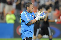 Real Salt Lake goalkeeper Nick Rimando (18). D.C. United defeated Real Salt Lake 4-1 at RFK Stadium, Saturday September 24 , 2011.