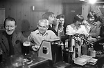 Derry Northern Ireland Londonderry. 1979. Catholic men lunch time drinkers in the Sports Bar Derry town centre.