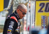 May 22, 2016; Topeka, KS, USA; NHRA top fuel driver J.R. Todd during the Kansas Nationals at Heartland Park Topeka. Mandatory Credit: Mark J. Rebilas-USA TODAY Sports
