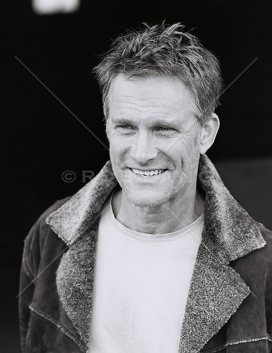 Mature man, smiling