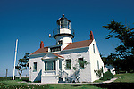 CA: Pacific Grove, California, Point Pinos lighthouse, 2005 .Image: captpinos203..Photo Copyright: Lee Foster, lee@fostertravel.com, www.fostertravel.com, (510) 549-2202.