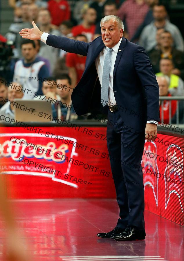 Zeljko Obradovic  Euroleague basketball game between Crvena Zvezda and Fenerbahce on Novembar 6. 2015 Beograd, Srbija, 6.11.2015.  (credit image & photo: Pedja Milosavljevic / STARSPORT)